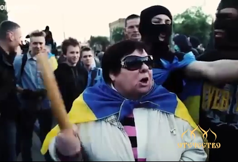 Пикет у посольства РФ в Киеве 1