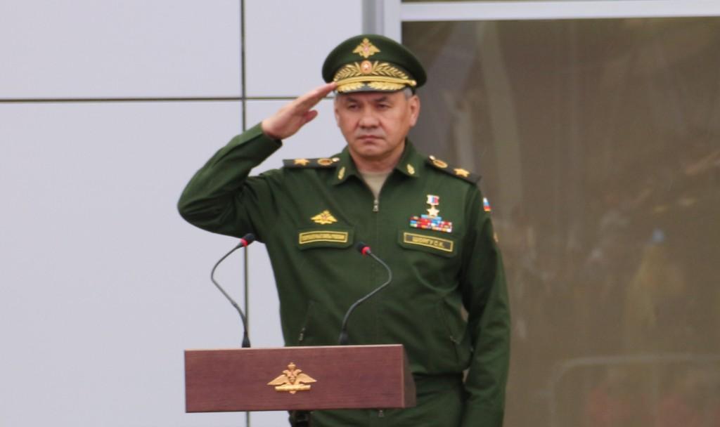 Армия, 2015, Шойгу, открывает конгрессно, выставочный, центр