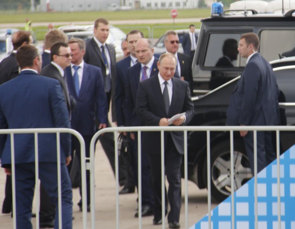 Путин, прилетел, МАКС-2017