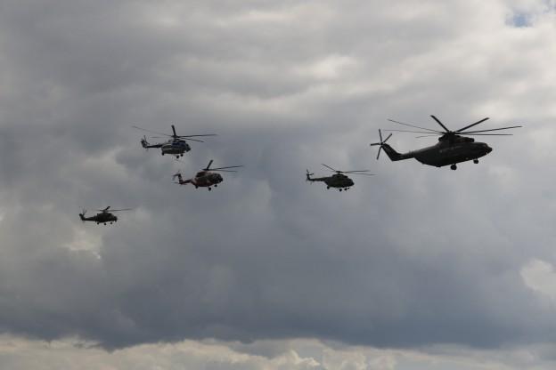 показательные полеты, Вертолеты, России , МАКС, 2017