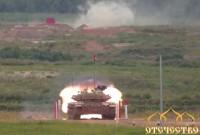 Индийская, команда танк, Т-90С, Бхишма, попадает в цель, Танковый биатлон, Армейские игры, 2017, Полигон, Алабино