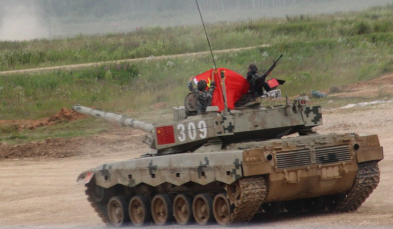 Танкисты, КНР, модернизированном, танк, китайского, производства, T-96B