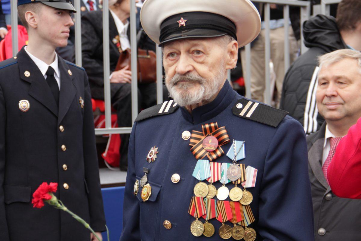 Парад, Бессмертный полк, 9 мая, 2019, Красной площади, ветеран