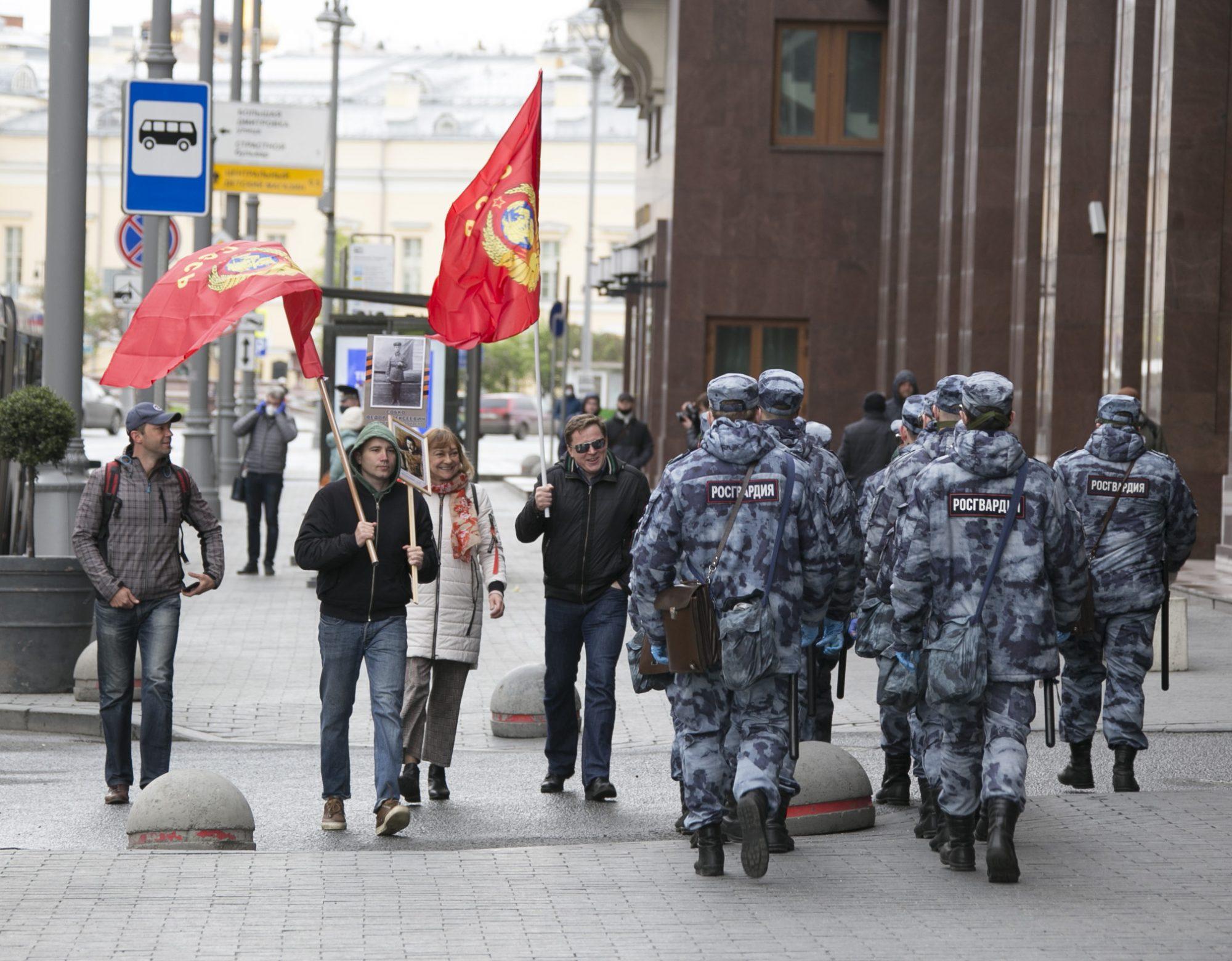 Бессмертный полк, Москва, День Победы, 2020