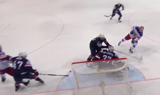 М по хоккею 2015, Россия -США
