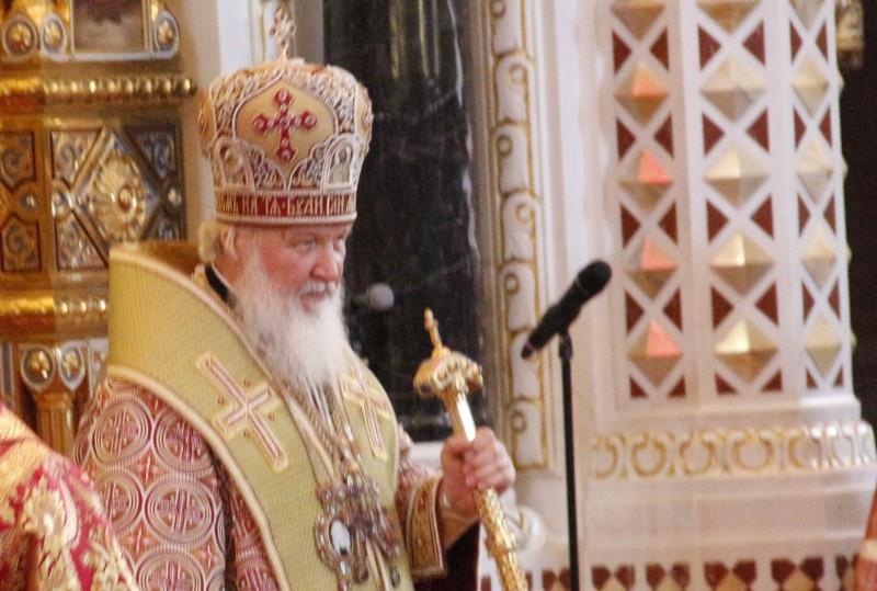 Патриарх Кирилл, Патриаршая служба, Принесение мощей, св., Николая, Храм Христа Спасителя