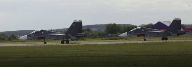 MAKS-2017, МАКС, 2017, Воздушный бой, ас, двух, Су-30СМ